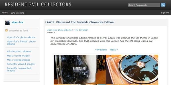 Novo site é voltado para colecionadores de Resident Evil
