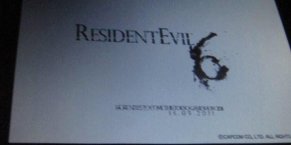 Logo de Resident Evil 6 aparece na Comic-Con