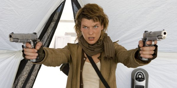 Milla Jovovich exibe o set de Resident Evil: Retribution