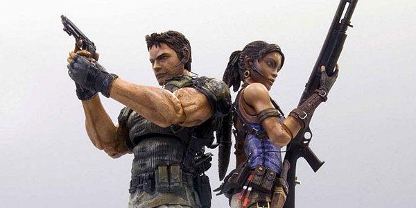 Action figures de Resident Evil 5 da Square Enix