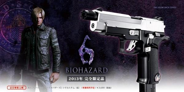 Novas imagens e informações sobre a réplica da arma de Leon em Resident Evil 6